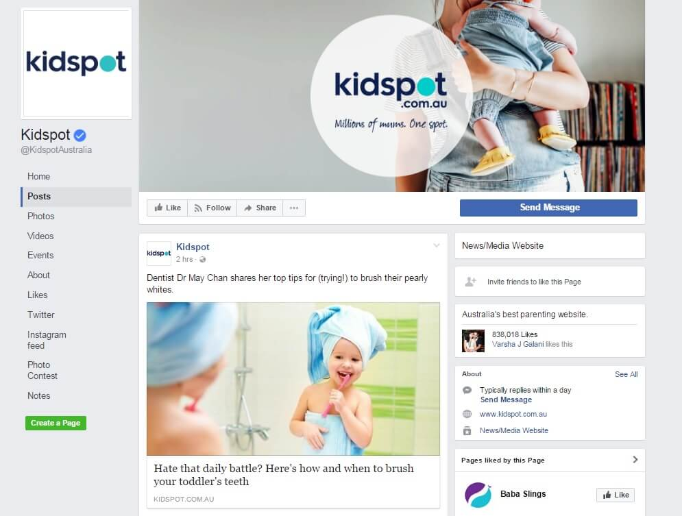 Www KidSpot 27April2017 Facebook